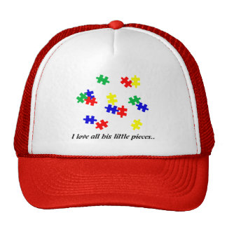 Autism hat, I love all his little pieces... Trucker Hat