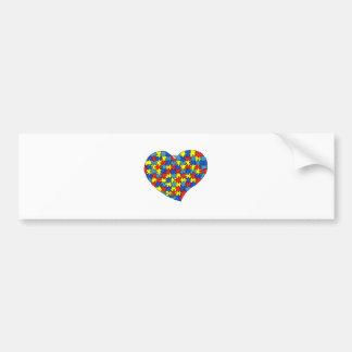 Autism Heart Bumper Sticker