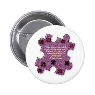 Autism Heart 2 Inch Round Button