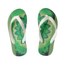 Autism Heart Chakra Spiritual Art Kid's Flip Flops