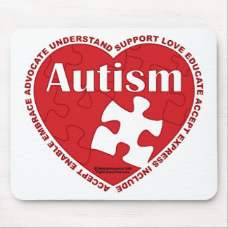 Autism Heart Mouse Pad