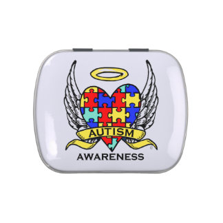 Autism Heart of Love Jelly Belly Tins
