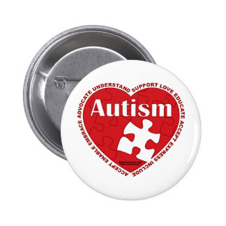 Autism Heart Pinback Button