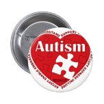 Autism Heart Pinback Buttons
