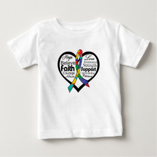 Autism Heart Ribbon Collage Shirts