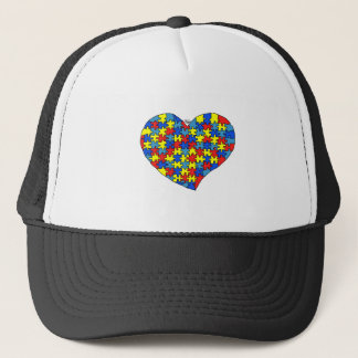 Autism Heart Trucker Hat