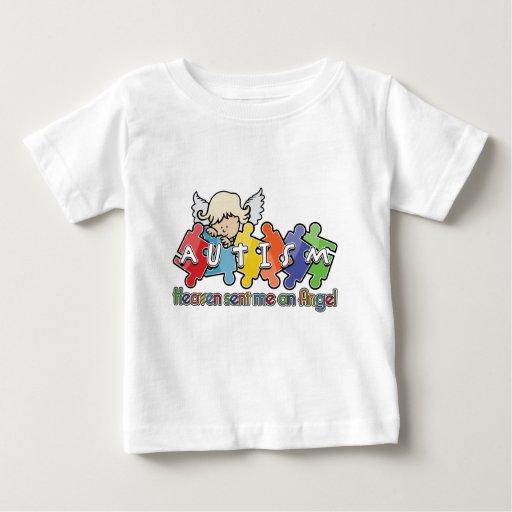 Autism Heaven Sent Me An Angel Tee Shirt