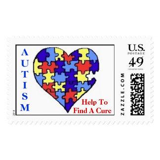 """AUTISM HELP"" Awareness Stamps"