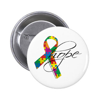 Autism Hope 2 Pinback Button