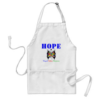 Autism Hope Butterfly Adult Apron