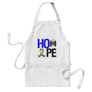 Autism Hope Butterfly Ribbon Adult Apron