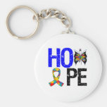 Autism Hope Butterfly Ribbon Key Chains