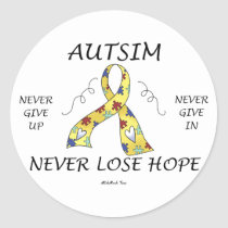 Autism Hope Classic Round Sticker