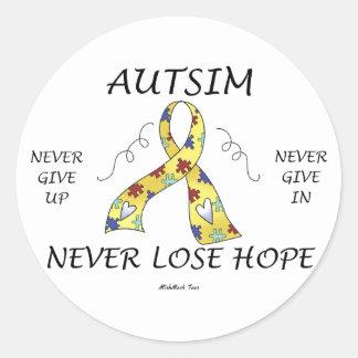 Autism Hope Classic Round Sticker