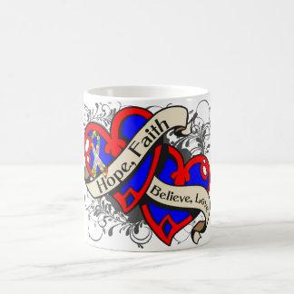 Autism Hope Faith Dual Hearts Coffee Mug