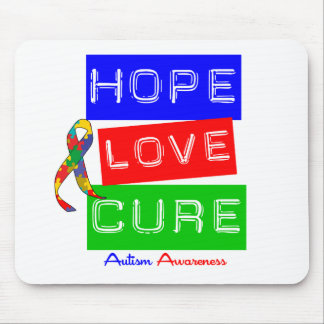 Autism Hope Love Cure Mouse Pad