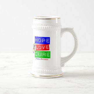 Autism Hope Love Cure 18 Oz Beer Stein