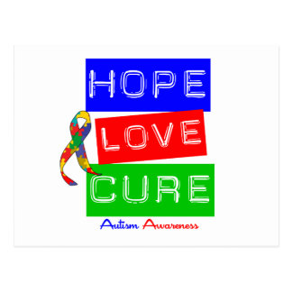 Autism Hope Love Cure Post Cards
