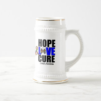 Autism Hope Love Cure (v.1) 18 Oz Beer Stein