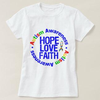 Autism Hope Love Faith T-shirt