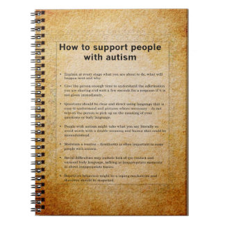 Autism How To Support People With Autism Notebook