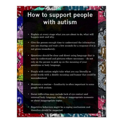 Autism How To Support Some With Autism Posters