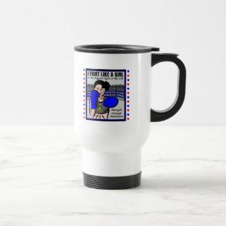 Autism I Fight Like A Girl Battle Coffee Mugs