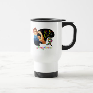 Autism I Fight Like a Girl Rosie The Riveter Coffee Mug