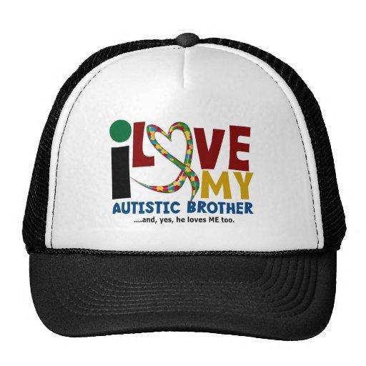AUTISM I Love My Autistic Brother 2 Trucker Hat
