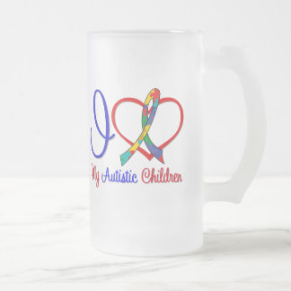 Autism I Love My Autistic Children Coffee Mugs