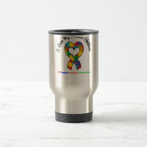 Autism I Love My Autistic Children 15 Oz Stainless Steel Travel Mug