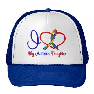 Autism I Love My Autistic Daughter Mesh Hat
