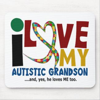 AUTISM I Love My Autistic Grandson 2 Mouse Pad