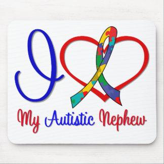 Autism I Love My Autistic Nephew Mouse Mat