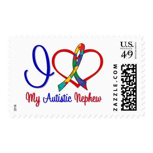 Autism I Love My Autistic Nephew Stamp