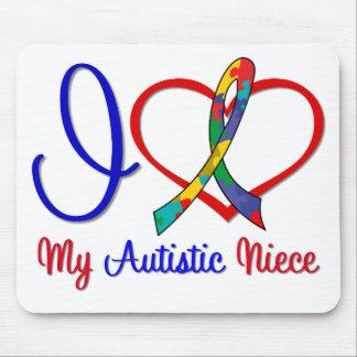 Autism I Love My Autistic Niece Mouse Mats