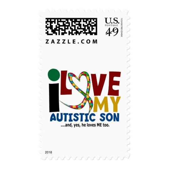 AUTISM I Love My Autistic Son 2 Postage