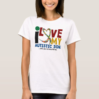 AUTISM I Love My Autistic Son 2 T-Shirt