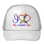 Autism I Love My Autistic Son Trucker Hats