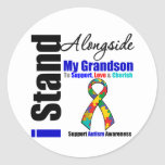 Autism I Stand Alongside My Grandson Sticker
