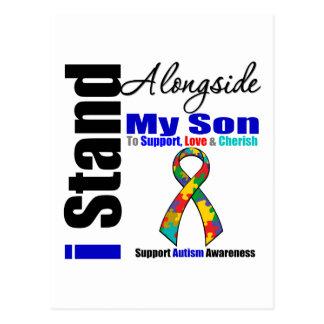 Autism I Stand Alongside My Son Postcard
