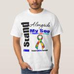 Autism I Stand Alongside My Son Tee Shirt