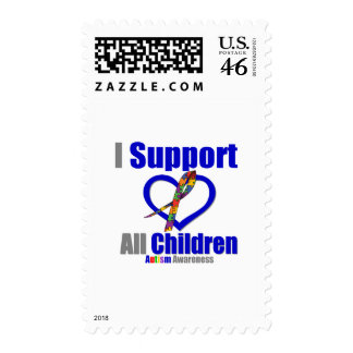 Autism I Support All Children Postage Stamps