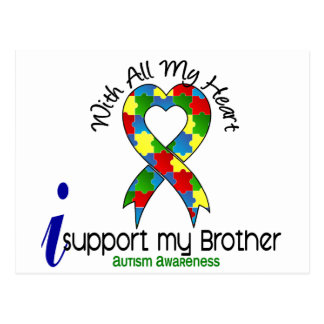 Autism I Support My Brother Postcard