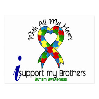 Autism I Support My Brothers Postcard