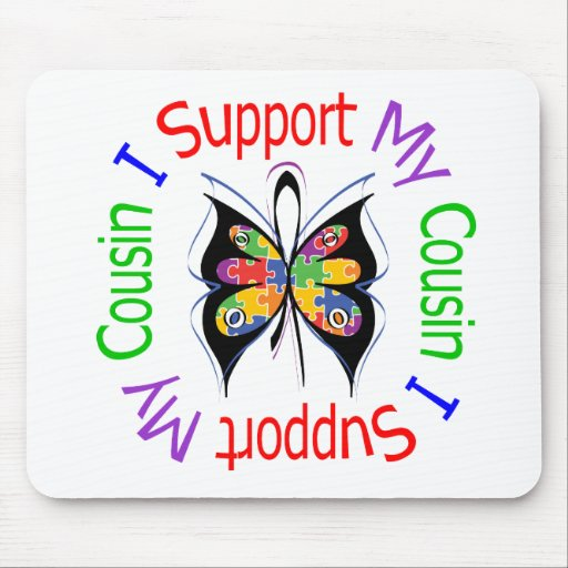 Autism I Support My Cousin Mouse Pad
