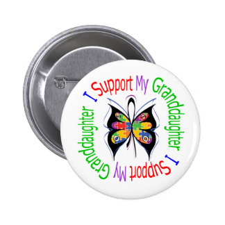 Autism I Support My Granddaughter Button