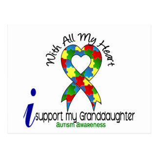 Autism I Support My Granddaughter Postcard