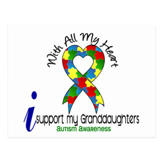 Autism I Support My Granddaughters Postcard