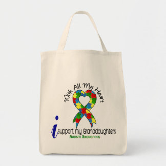 Autism I Support My Granddaughters Tote Bag